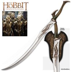 The Hobbit - Elven Mirkwood Infantry Sword - Highly Detailed