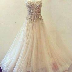 Charming Prom Dress,Sweetheart Prom Dress,Tulle Prom Dress,Beading Dress,A-Line Evening Dress For Fashion Womens