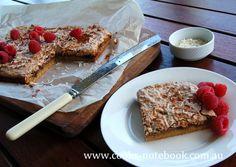 Recipe: Raspberry coconut slice - cooks-notebook.com.au
