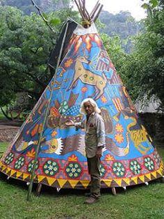 Huichol Tipi via Living Tipi's