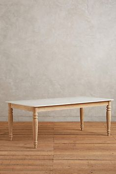 Polished Marble Dining Table, Rectangle - anthropologie.com