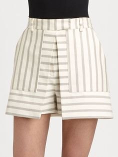 Theory Caslyn Open Front Skort in Beige (ivory warm pebble) Little Girl Dresses, Nice Dresses, Short Dresses, Pleated Pants, Skirt Pants, Skirt Outfits, Chic Outfits, Short Suit, Chor