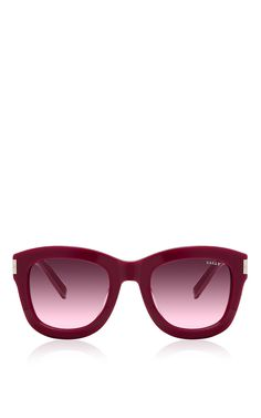 Cherry Acetate Sunglasses by Bally for Preorder on Moda Operandi