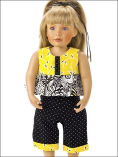 Ruffle Top & Capris $2.99 and immediate down load from Annie's e-PatternsCentral. More patterns for 18 inch dolls.