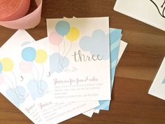 whimsical BALLOON invitation - diy PRINTABLE by simplypchee on Etsy https://www.etsy.com/listing/204640778/whimsical-balloon-invitation-diy