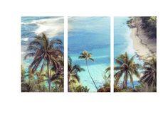Canvas Art Na Pali Kauai Hawaii Palms Turquoise Beach