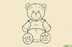 Een Teddybeer tekenen (met afbeeldingen) - wikiHow Snoopy, Fictional Characters, Fantasy Characters