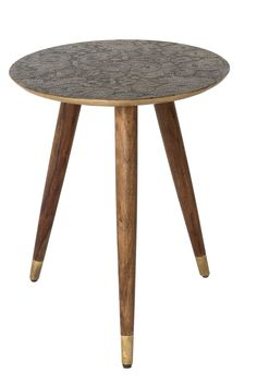 Bast side table Gold