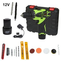 79.90$  Watch now - http://alikd3.worldwells.pw/go.php?t=32698029062 - 12v Cordless Screwdriver Rechargeable Drill Mini Electric Drill Two Lithium Battery Plus Parts Parafusadeira Furadeira Tools