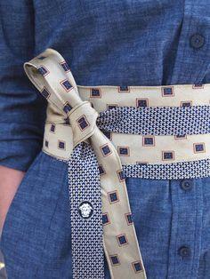 cute recycled tie belt