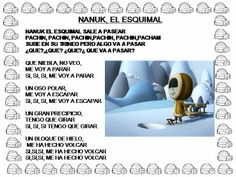 Canción nanuk el esquimal. Elementary Spanish, Elementary Teacher, Polo Norte, Spanish Language, Musical, Ideas, Children Songs, School Projects, Activities