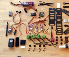 a homemade 250 size quadcopter is not difficult to build. it just takes a bit of time to find and get he necessary components. The following components have been used ...