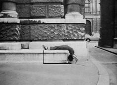 """Valie Export: Zustützung, 1976. From the Series """"Body Configurations"""", 1972, 1974, 1976, 1982. Conceptual Photography. © 2014 VALIE EXPORT."""