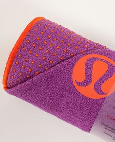 LOVE my lululemon skidless towel for hot yoga!