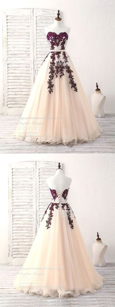 Burgundy sweetheart tulle long prom dress, burgundy evening dress, burgundy bridesmaid dress, wedding party dress --- i would try to have that peach turned greyish black fade. And burgundy Cute Prom Dresses, Grad Dresses, Wedding Party Dresses, Ball Dresses, Elegant Dresses, Pretty Dresses, Homecoming Dresses, Beautiful Dresses, Dress Outfits