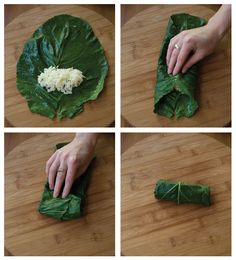 Recipe: Collard Dolmas and Cranberry Tahini. (Follow our other boards for detox, fitness, yoga and green living tips: pinterest.com/gaiam)