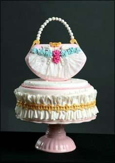 Shabby Chic Purse Cake By Fantasticakes