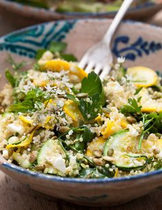 Quinoa is filling – a little goes a long way. It's a seed from the goosefoot or fat hen family, so it's a good source of protein, gluten-free, easy to digest, as well as being high in magnesium and iron. Smoked chicken is a very tasty addition.