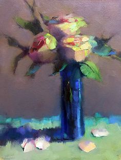 Gather Roses While You May by Trisha Adams Oil ~ 16 x 12