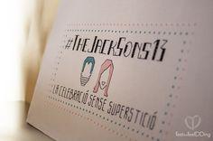 Cartel de bienvenida en la Boda #TheJackSons13 #DIY #costura #puntodecruz #handmade