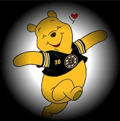 Boston Bruins. Winnie the Pooh bear. Not exactly the bear we had in mind... Lol. We need tough, not sweet and prancing