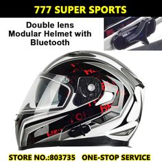 full face motorcycle helmets with intercom | Double Lens BT Intercom Motorcycle Helmet Built-in Bluetooth Headset ...
