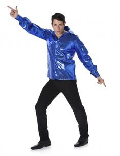 Disco shirt with blue sequins for men: This disco shirt for men is blue. It has a print of fake shiny sequins and can be closed at the front with a simple buttoning.This disco shirt will be perfect as an addition to your disco costume at. Disco Shirt, Costume Dress, Outfit, Wigs, Sequins, Costumes, Womens Fashion, Jackets, Ideas