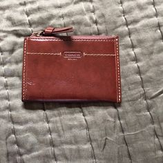 """Coach brown patent leather card holder. Coach brown patent leather card holder. 4.5""""x3"""".  Used but like new Coach Bags Wallets"""