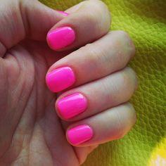 Barbie pink gel nails