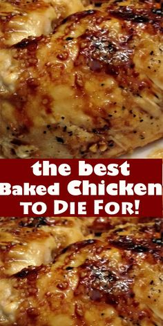 The Best Baked Chicken to Die For! the best Baked Chicken to Die For! Baked Brown Sugar Garlic Chicken is the best and juicy chicken ever. It is baked to crisp-tender perfection and ready. Baked Chicken Recipes, Turkey Recipes, Meat Recipes, Healthy Dinner Recipes, Cooking Recipes, Easy Baked Chicken, Yummy Recipes, Baked Chicken Breast, Portuguese Recipes