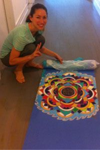 Hand painted yoga mats by Aline Marie.  Simply amazing