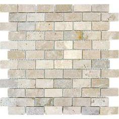 Kitchen Backsplash Ms International Chiaro Brick 12 In X 10 Mm Tumbled Travertine Mesh Mounted Mosaic Tile At The Home Depot Mobile