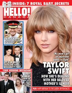 "Issue 444: COVER STORY: TAYLOR SWIFT puts family first! See how the chart topper is coping with her mom's health crisis Tennis great ANDY MURRAY weds longtime love KIM SEARS in Scotland. Andy's mother, JUDY, calls Kim ""the best thing that's ever happened to him"" Happy 89th Birthday, QUEEN ELIZABETH! As the monarch celebrates another milestone year, we reveal 89 little-known facts about her illustrious life"