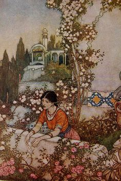 Edmund Dulac illustration in Rubáiyát of Omar Khayyám