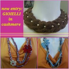 Collane in cashmere Crochet Necklace, Jewelry, Fashion, Cashmere Wool, Jewerly, Moda, Jewlery, Fashion Styles, Schmuck