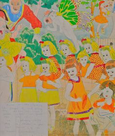 Henry Darger, a janitor by day an artist by night. Became famous after his death