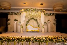 south india's top wedding photographers and filmmakers offices located in hyderabad and bangalore Desi Wedding Decor, Wedding Hall Decorations, Marriage Decoration, Engagement Decorations, Backdrop Decorations, Simple Stage Decorations, Backdrops, Wedding Ideas, Reception Stage Decor