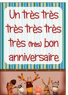 Carte Carte anniversaire des animaux qui chantent pour envoyer par La Poste, sur Merci-Facteur !