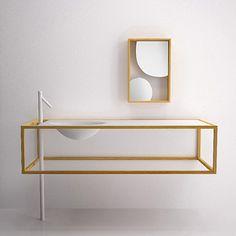Famed Japanese design studio Nendo and Italian brandBisazza Bagnogave birth to this beautiful bathroom collection.