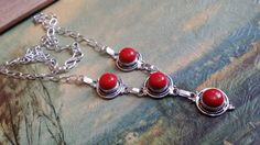 Check out this item in my Etsy shop https://www.etsy.com/listing/246066192/pre-holiday-sale-red-coral-necklace