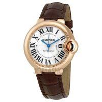 Cartier Ballon Bleu de Cartier Pink Gold Brown Leather Watch W6920069 $10,496.00