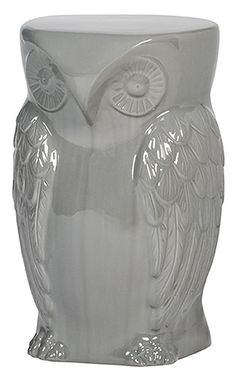 """""""hoot stool"""" - urban barn. would look so much better in white, though."""