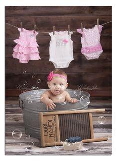 Wash tub baby girl w