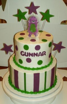 Barney Birthday Cake — Children's Birthday Cakes