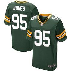 Datone #Jones Green Bay #Packers Men's Elite Green Team Color #Jersey Nike NFL #95 Home #nfljerseys #packersjersey