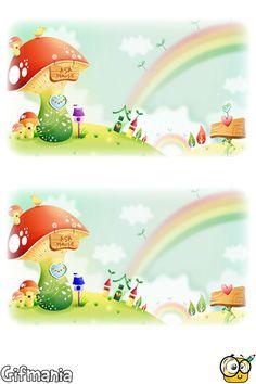 spot 7 differences of landscape