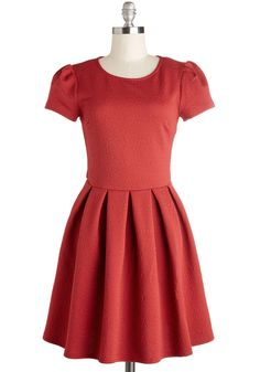 Feeling So Fine Dress. It never fails - you zip into this crimson dress and instantly break into an ear-to-ear smile! #red #modcloth