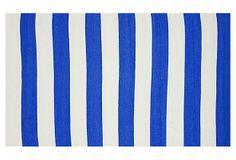 Mio Outdoor Flat-Weave Rug, Blue on OneKingsLane.com