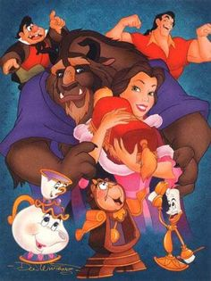 Beauty and the Beast :] my all time favorite Disney princess movie <3