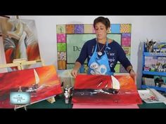 Wet into Wet Oils with Jayne Good. Diy Wall Painting, Acrylic Painting Tutorials, Painting Videos, Painting Tips, Painting Techniques, Wall Paintings, Painting Abstract, Youtube, Boats